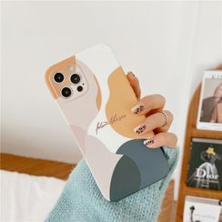 Surono - Lettering Colour Block  Phone Case - iPhone 12 Pro Max / 12 Pro / 12 / 12 mini / 11 Pro Max / 11 Pro / 11 / SE / XS Max / XS / XR / X / SE 2 / 8 / 8 Plus / 7 / 7 Plus