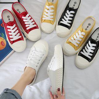 Shanhoo - 帆布木乐休閒鞋