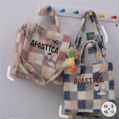 Anchara - Plaid Fleece Tote Bag