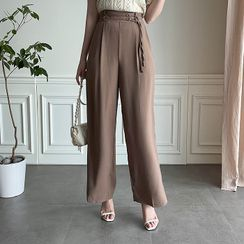MyFiona - Belted Wide-Leg Pants
