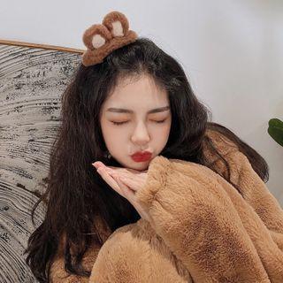 Shinto - Animal Ear Chenille Hair Clip / Hair Tie