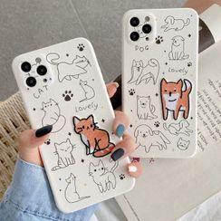 Pixel Dream - Animal Embroidered Phone Case - iPhone 12 Pro Max / 12 Pro / 12 / 12 Mini / 11 Pro Max / 11 Pro / 11 / Xs Max / Xr / Xs / X / 8 Plus / 8 / 7 Plus / 7 / Se 2