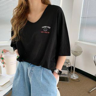 NANING9 - Short-Sleeve Smiley T-Shirt