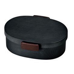 Hakoya - Hakoya Mokume Oval Lunch Box L (Black Charcoal)