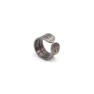 Black Degree - 不鏽鋼數字開口戒指