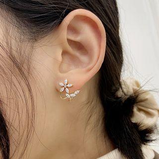 Infini - Rhinestone Flower Earring