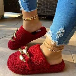 Avanti - 链条毛毛拖鞋