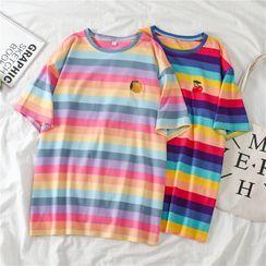Tiny Times - Striped Short-Sleeve T-Shirt
