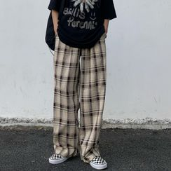 Shineon Studio - Plaid Straight Cut Pants