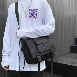 SUNMAN - Buckled Flap Crossbody Bag