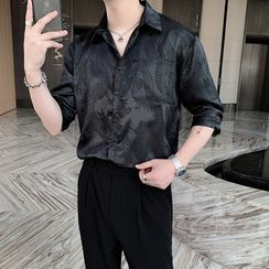 VEAZ - Long-Sleeve Embroidered Shirt