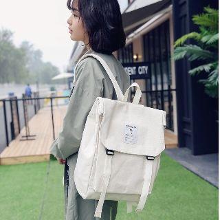 Sosara - Canvas Buckled Flap Backpack
