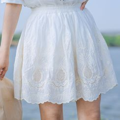 Echo Forest - Lace A-Line Skirt