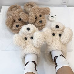 Intimo(インティモ) - Chenille Dog Home Slippers