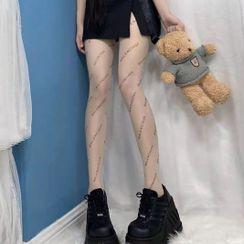 Holipse - Lettering Sheer Stockings