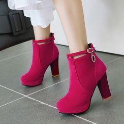 Comof - 厚底粗跟及踝靴