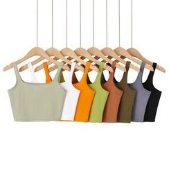 Blingbomb - Plain Cropped Camisole Top
