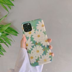 TinyGal - Floral Print Phone Case - iPhone 11 Pro Max / 11 Pro / 11 / XS Max / XS / XR / X / 8 / 8 Plus / 7 / 7 Plus / 6s / 6s Plus
