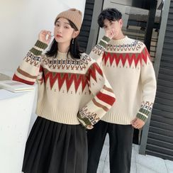 Hippus - Couple-Matching Nordic Patterned Sweater
