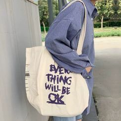 Woodword - Lettering Canvas Tote Bag