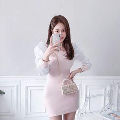 Babi n Pumkin - Puff-Shoulder Minidress