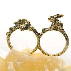 Fit-to-Kill - Double-ring Tortoise And Rabbit Ring