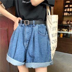Alfie - Loose-Fit Denim Shorts