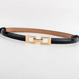 Goldenrod - Metal Buckle Slim Belt