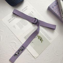Tangipop - Lettering Canvas Belt