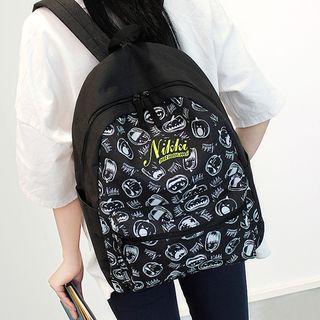 Bag Hub - Print Canvas Backpack
