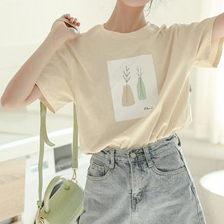 Hello Lucy - Printed Short-Sleeve T-Shirt
