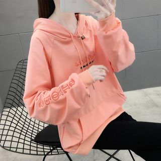 Linchi - Letter Embroidered Hoodie