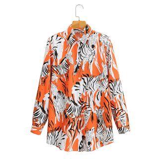 Paxbara - Zebra Print Shirt