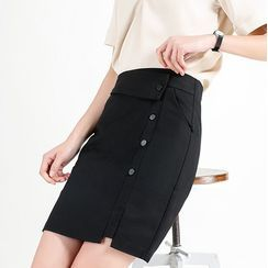 In the Mood - Mini Straight-Fit Skirt