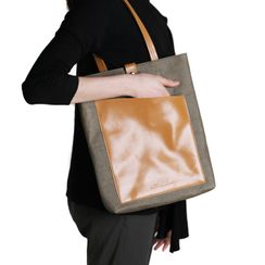 ACE COAT - Washed Kraft Paper Laptop Tote Bag