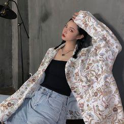 Giuliana - Floral Long-Sleeve Denim Button Jacket