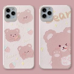 Mobby - Bear Phone Case - iPhone 11 Pro Max / 11 Pro / 11 / XS Max / XS / XR / X / 8 / 8 Plus / 7 / 7 Plus / 6s / 6s Plus