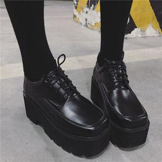 安若 - 厚底繫帶鞋