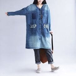 YORU - Denim Trench Jacket