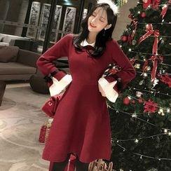 Ashlee - 长袖A字针织连衣裙