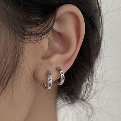 YUGGI - Alloy Hoop Earring / Set