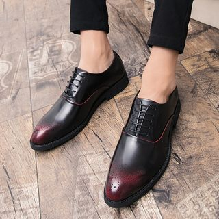 WeWolf - Perforated Faux Leather Oxfords