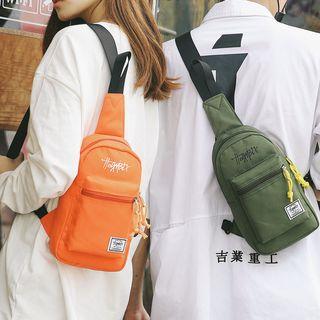 SUNMAN - 刺繡尼龍斜背包