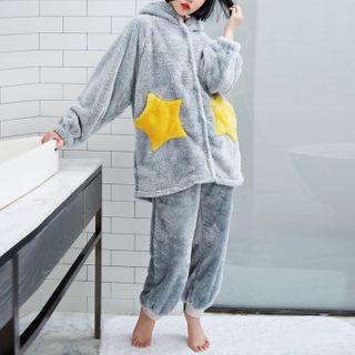 Cinni - Hooded Fleece Pajama Set