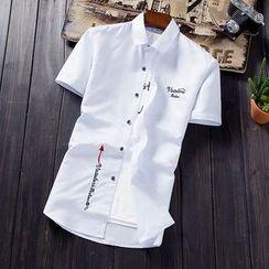 Kunji - Embroidered Short-Sleeve Shirt