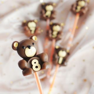 lulushino - Bear Numerical Birthday Party Candle (various designs)