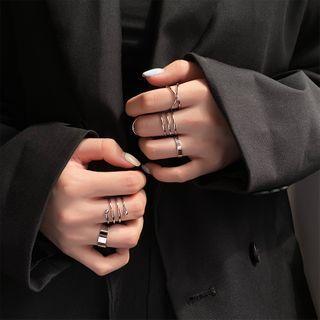 Show Mind - 六件套装: 水钻戒指