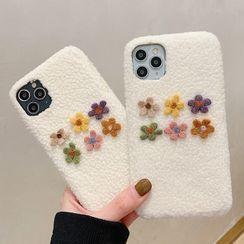 Chatarine - Chenille Flower Mobile Case - iPhone 11 Pro Max / 11 Pro / 11 / XS Max / XS / XR / X / 8 / 8 Plus / 7 / 7 Plus / 6s / 6s Plus