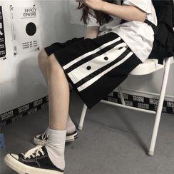 Koiyua - Striped Wide Leg Shorts