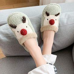GRUNE - Deer Fluffy Slippers
